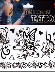 Temporary Tattoos Stickers Non Toxic Glitter Waterproof Multicolored Glitter 1 Package 17*16CM Butterfly