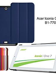 три раза ультра тонкий кожаный чехол чехол для Acer Iconia один 7 b1-770 7〃 таблетки