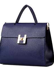 Women's Fashion Classic PU Leather Messenger Shoulder Bag/Totes