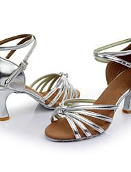 High Quality Women's Girl's Dance Shoes Latin / Salsa / Samba/Ballroom  Satin / Leatherette Heel (More Color) Customizable
