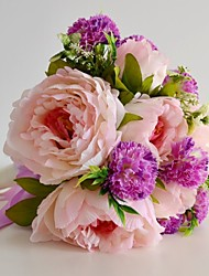 Spring Silk Pink Peony bouquet for Wedding Flowers