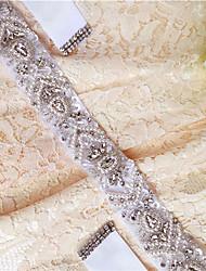 Satin Mariage Fête/Soirée Quotidien Ceinture-Paillettes Billes Appliques Cristal Strass Femme 250cmPaillettes Billes Appliques Cristal