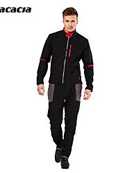 ACACIA® Cycling Jersey with Tights Men's Long Sleeve BikeWaterproof / Thermal / Warm / Windproof / Fleece Lining / Wearable / Reflective