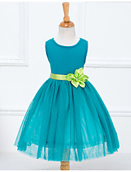 Girl's Green Dress,Bow Polyester Summer