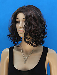 Europe And The United States Sell Like Hot Cakes Wig Dyed Black Polyester Short Curly Wig