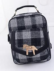 Women Polyester Bucket Backpack - Green / Black
