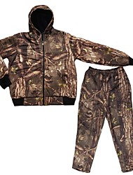 Men Winter Camouflage Hunting Suits , Camo Jacket Coat Trousers for Outdoor Hunting Fishing(Jacket+Trousers+peaked cap)