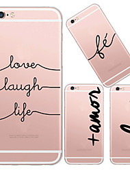 For iPhone 7 MAYCARI® Because of Love TPU Back Case for iPhone 6s 6 Plus