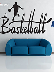 AWOO®  A Man Play Basketball  Wall Stickers Home Decor  Vinyl Stickers For Kids Room Decoration 4019S