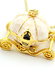 Gold Pumpkin Car Necklace
