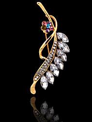 la mode noble incrustation de diamants des femmes laisse Broche