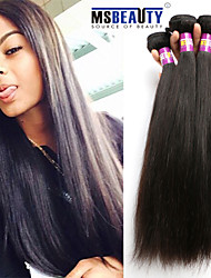 "3 Pcs /Lot 8""-30""7A Peruvian Virgin Hair Straight Hair Extensions 100% Unprocessed Remy Human Hair Weaves"