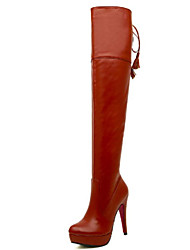 Women's Shoes  Stiletto Heel Fashion Boots Boots Casual Black / Brown