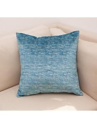 Set of 2 Soft Mock Chenille Yarn Decorative Pillow and Cushion Cover 18'' x18'', Blue