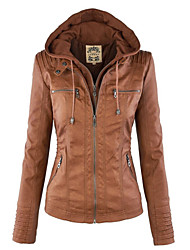 Women's Fashion Street Style PU Leather Jacket