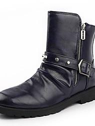 Men's Shoes Casual Leatherette Boots Black / Navy
