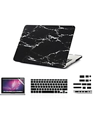 "4 in 1  Cool  Marble  Cover Case+ Keyboard Cover+ Screen Protector+ Dust plug for Macbook Air 11"" Retina 13""/15"""