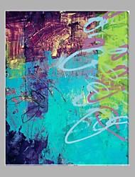 Handgemalte AbstraktModern Ein Panel Leinwand Hang-Ölgemälde For Haus Dekoration