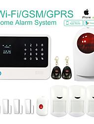 sécurité g90b de système sans fil gsm wifi d'alarme avec le GPRS, iOS app Android système d'alarme antivol