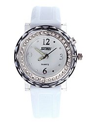 SKM 0995 Lady Glitters Jelly Watch With Rotating Light Wrist Watch For Women