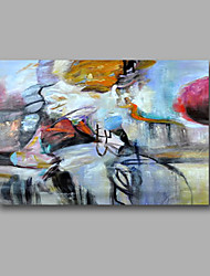 """Ready to hang Stretched Hand-Painted Oil Painting 36""""x24"""" on Canvas Wall Art Abstract Contempory Blue Pink"""