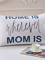 Direct Selling Mom Pillow Case Covers Mother's Day Gifts White Decorative Pillowcase 50cmx75cm Cozy Bedding