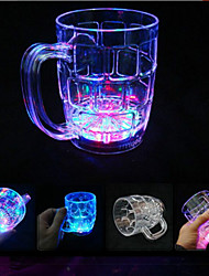 LYGF  LED Flashing  Rainbow Colour Beer Cup 285ML