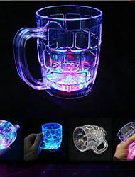lygf LED piscando cor do arco-íris copo de cerveja 285ml