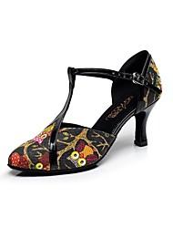 Женская обувь - Кожа - Номера Настраиваемый ( Черный ) - Латино