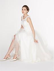 lanting mariée une ligne de mariée en dentelle robe-cheville-longueur boule / tulle