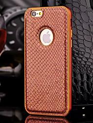 Pour Coque iPhone 6 / Coques iPhone 6 Plus Plaqué Coque Coque Arrière Coque Couleur Pleine Dur Cuir PU iPhone 6s Plus/6 Plus / iPhone 6s/6