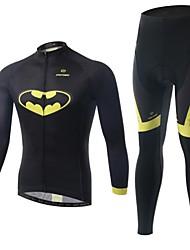 Calça com Camisa para Ciclismo Homens Manga Comprida Moto Respirável / Bolso Traseiro / Redutor de Suor / Confortável / Compressão