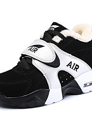 Unisex Athletic Shoes Spring Fall Winter Comfort Leatherette Outdoor Casual Athletic Low Heel Black and White Walking