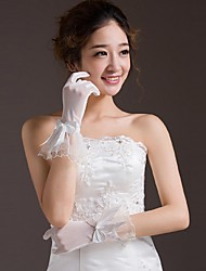 Wrist Length Fingertips Glove Bridal Gloves