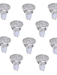 5W GU10 Spot LED MR16 3 COB 450 lm Blanc Chaud / Blanc Froid Décorative AC 85-265 V 10 pièces