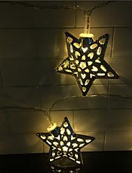 hol uit 10 lamp, smeedijzeren pentagram 2 accubak lamp serie