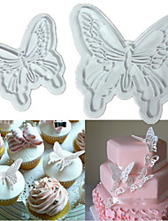 4PCS Butterfly Cake Cookies Cutter Plunger Sugarcraft Decorating Fondant Mold