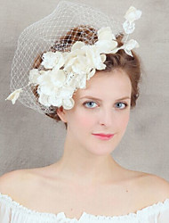 Lace Flower Hair Jewelry Veil Fascinators for Wedding Party Decoration
