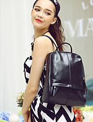 HOWRU® Women 's PU Backpack/Tote Bag/Leisure bag/Travel Bag-Black/Silver/White/Coffee