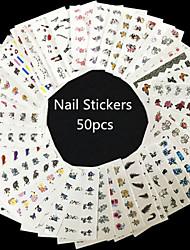 50pcs 3D Flower Bow Design Nail Art  Nail Sticker