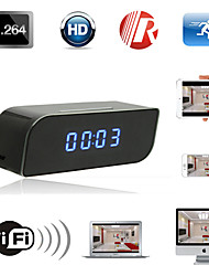 Wireless Mini Wifi IP 720P HD Clock Hidden Camera IR Security Network DVR