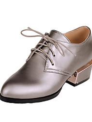 Chaussures Femme - Habillé - Noir / Rouge / Argent - Gros Talon - Talons / Bout Pointu - Talons - Similicuir