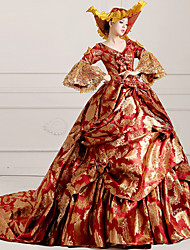 Steampunk®Georgian Red Victorian Gown Dress Marie Antoinette Wholesalelolita Rococo Princess Evening Dress