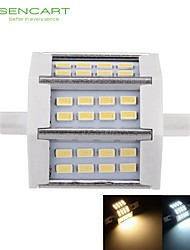 R7s 78mm 24smd 5730 5w bianco caldo / freddo 450-500lm 220 ° fascio orizzontale spina luci dimmable flood light ac85-265v
