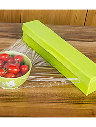 Cling Film Cutter Plastic Wrap Tear Tools Freshness-keeping Film Storage Box Random Color