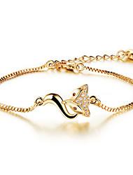Bracelet Chaînes & Bracelets Acier inoxydable Zircon Plaqué or Mariage Soirée Quotidien Décontracté Sports Regalos de Navidad Bijoux