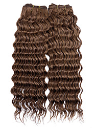 Top Super 100% Original brazilian Virgin Remy Human Hair for Salon Use, New Deep Wave, 110g, Double Drawn 3Pcs