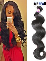 """1 pc / lot 12 """"-30"""" 7a peruanische reine Haarkörperwellen-Menschenhaareinschlagfäden 100% unverarbeitetes peruanisches remy Haar spinnt"""