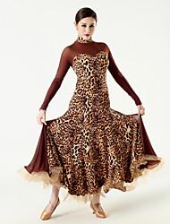 Robes ( Noire / Fuchsia / Rouge / Imprimé léopard , Tulle / Viscose , Danse moderne ) Danse moderne - pour Femme
