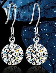 Flashing Zircon Pendant Alloy Earrings